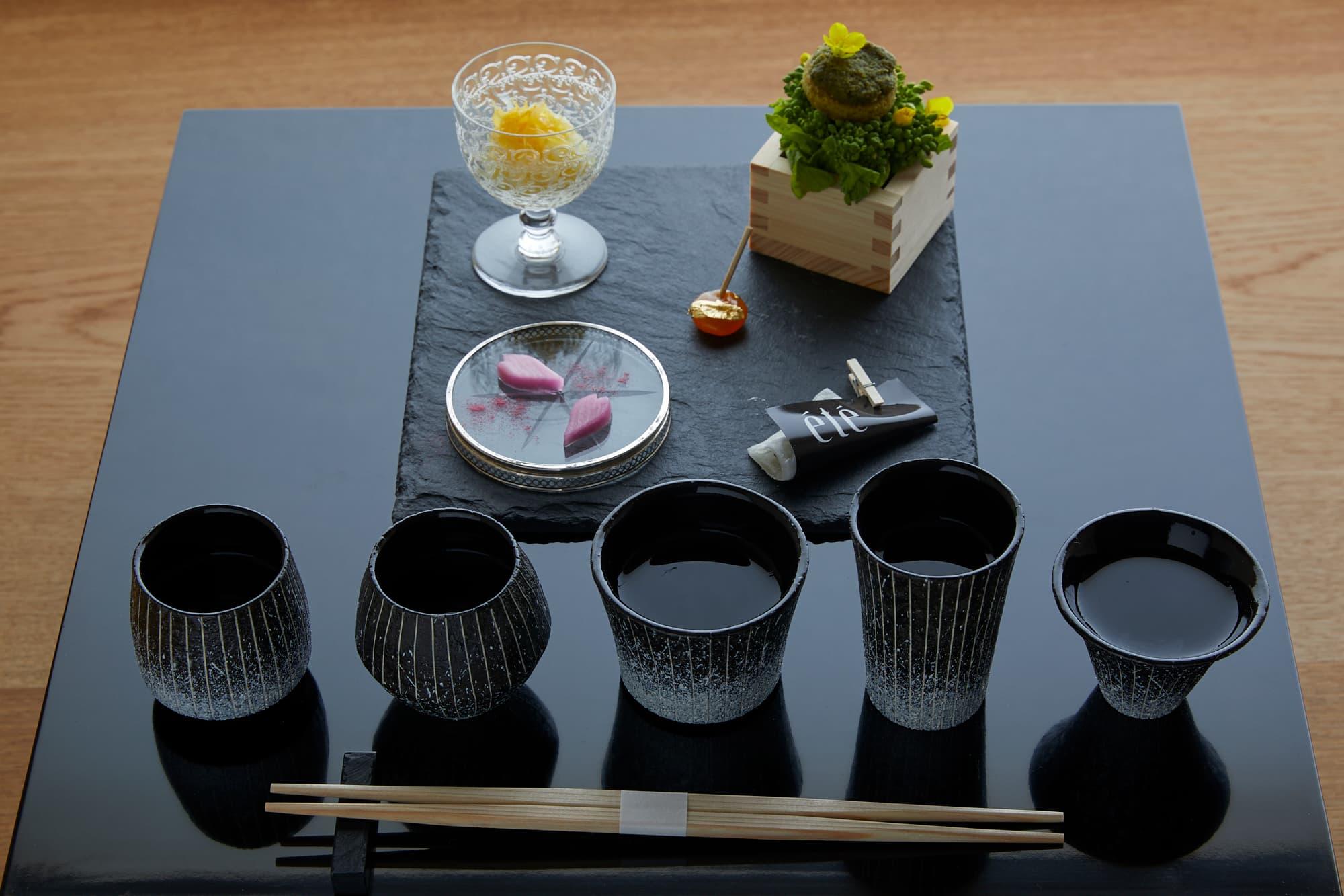 「日本酒体验」:新锐主厨特制酒肴与长谷川荣雅的5种日本酒