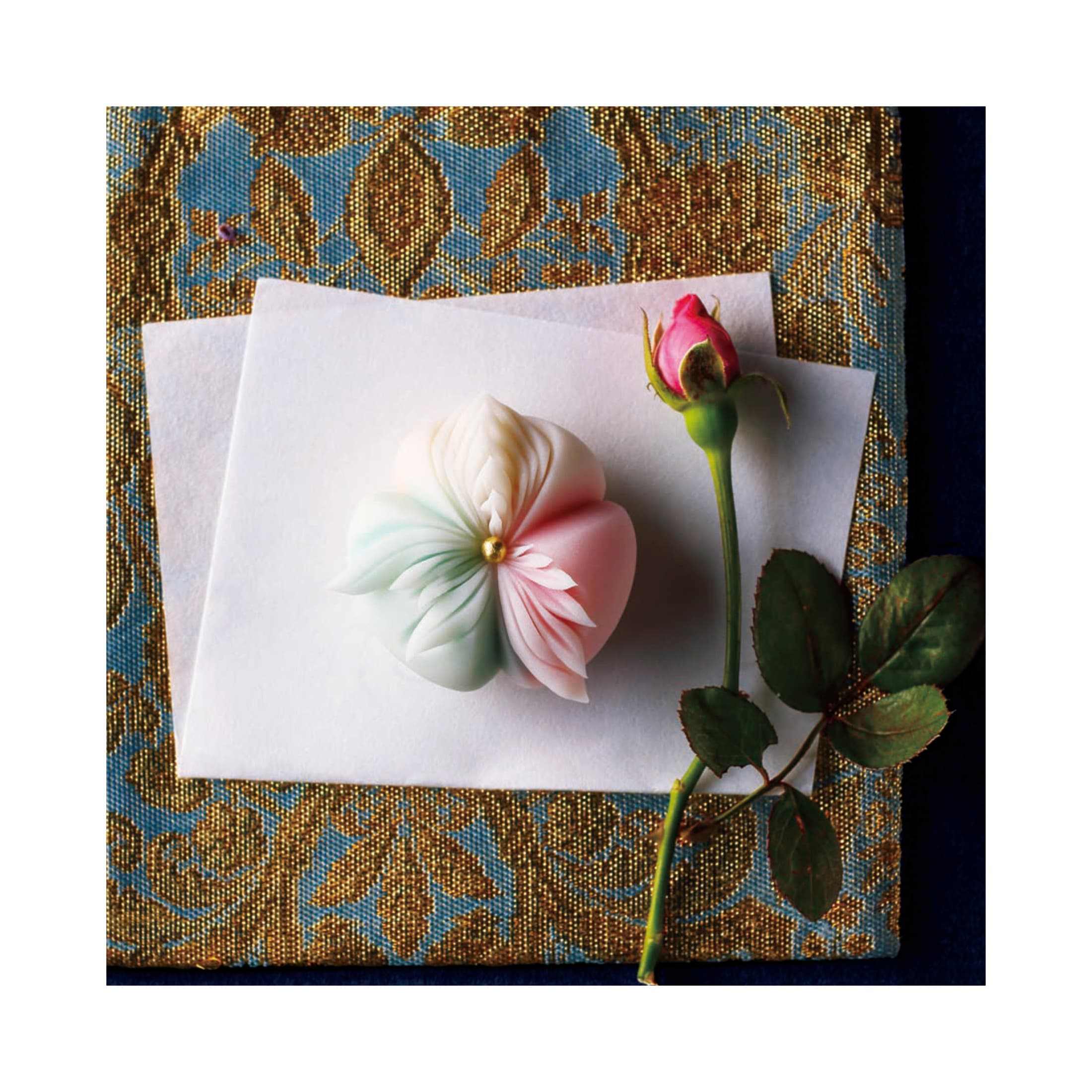 """This wagashi was inspired by France. It symbolizes the national motto of """"Liberty, equality, fraternity"""""""