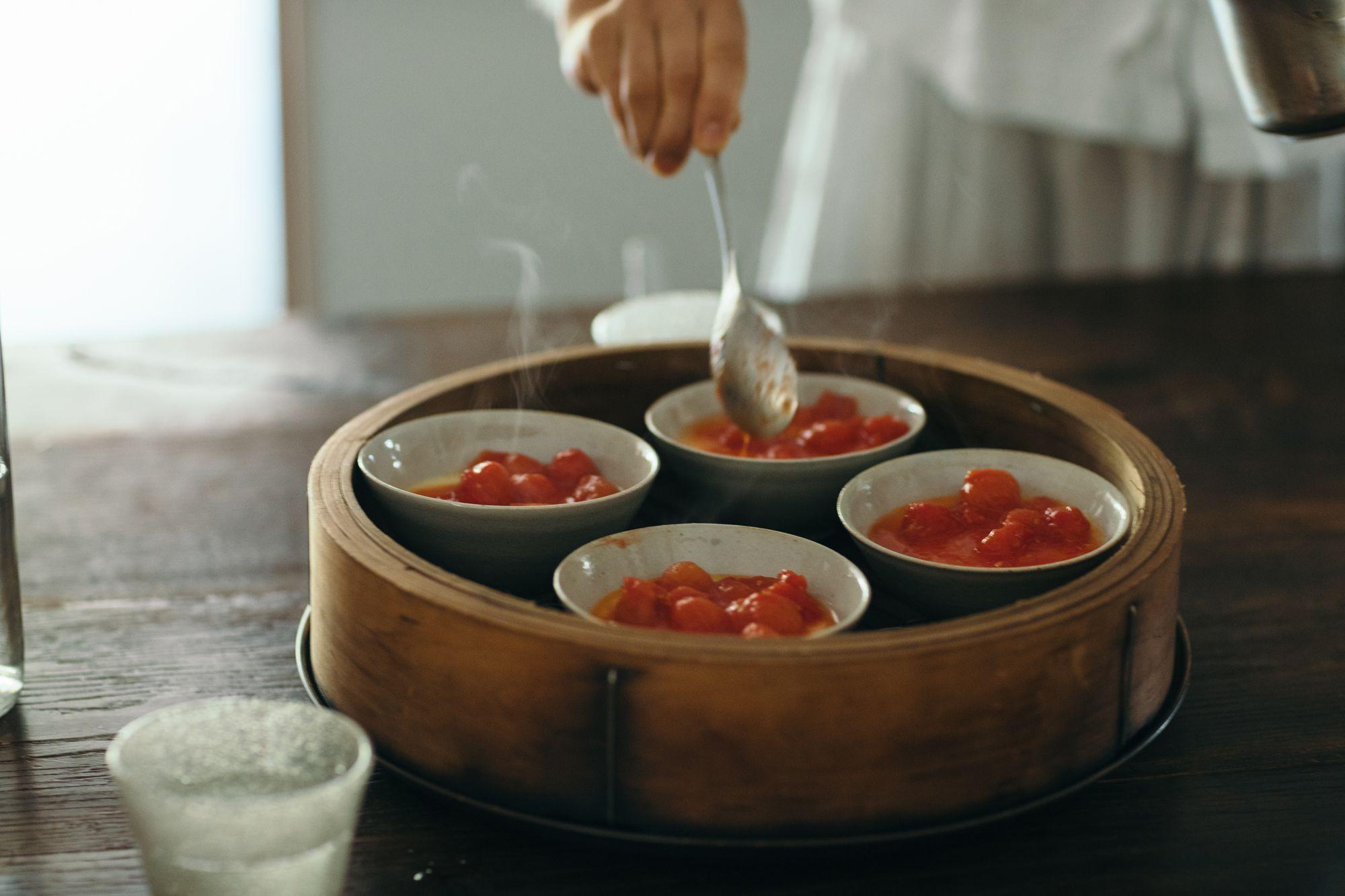 トマトの茶わん蒸し
