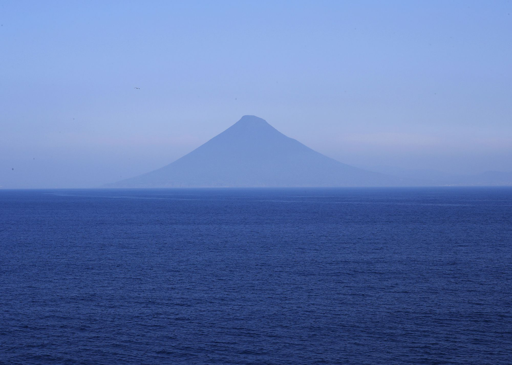 "Mount Kaimon in Ibusuki, Kagoshima. The name ""Satsuma Fuji"" comes partly from its conical shape."