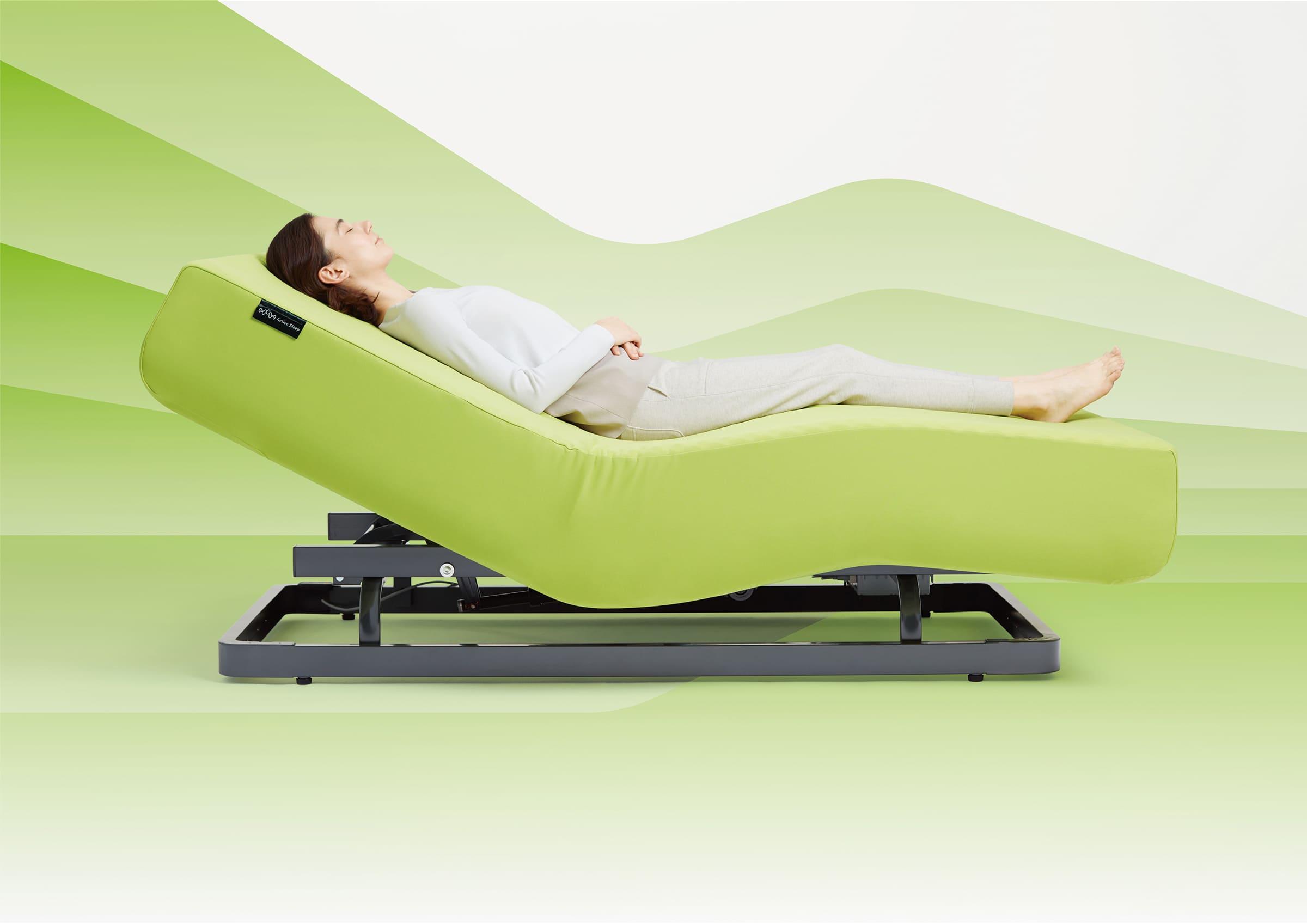 速やかで快適な入眠を実現する「Active Sleep BED」