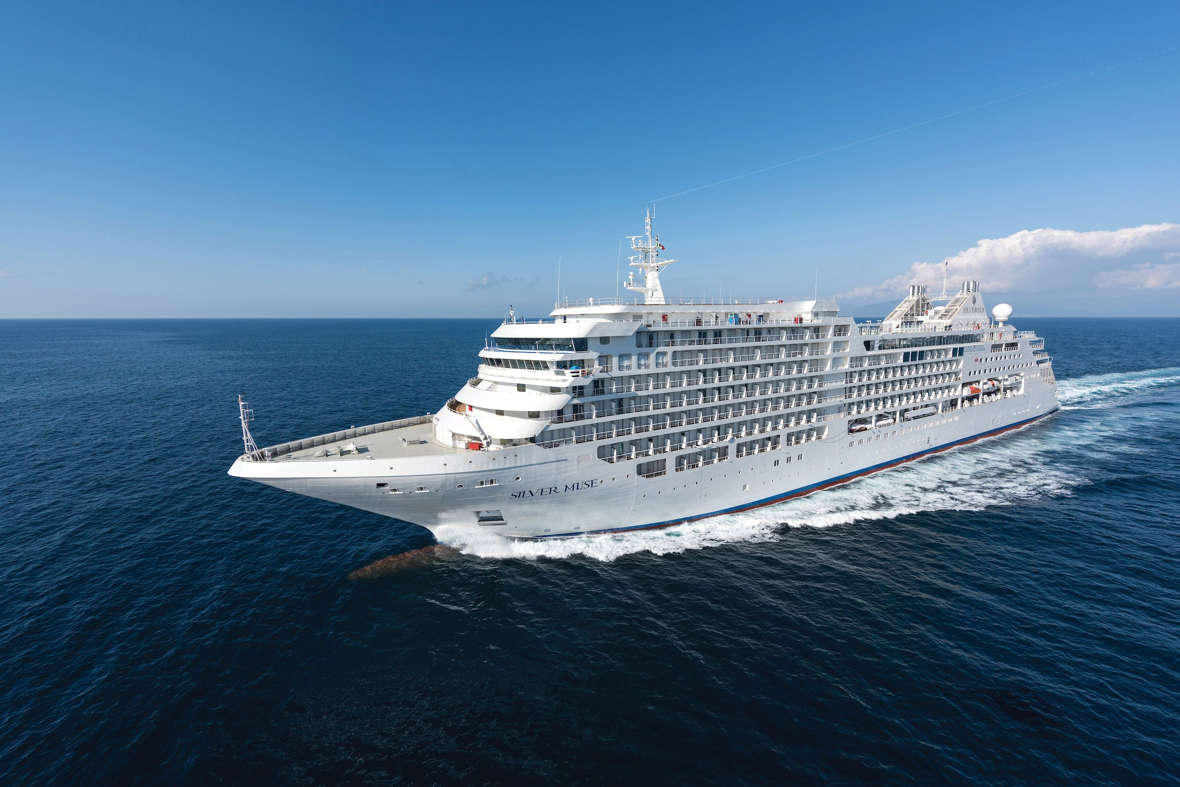 Silver Muse, the flagship of Silver Cruise which went into service in 2017 © Silver Sea Cruise, Japan Office
