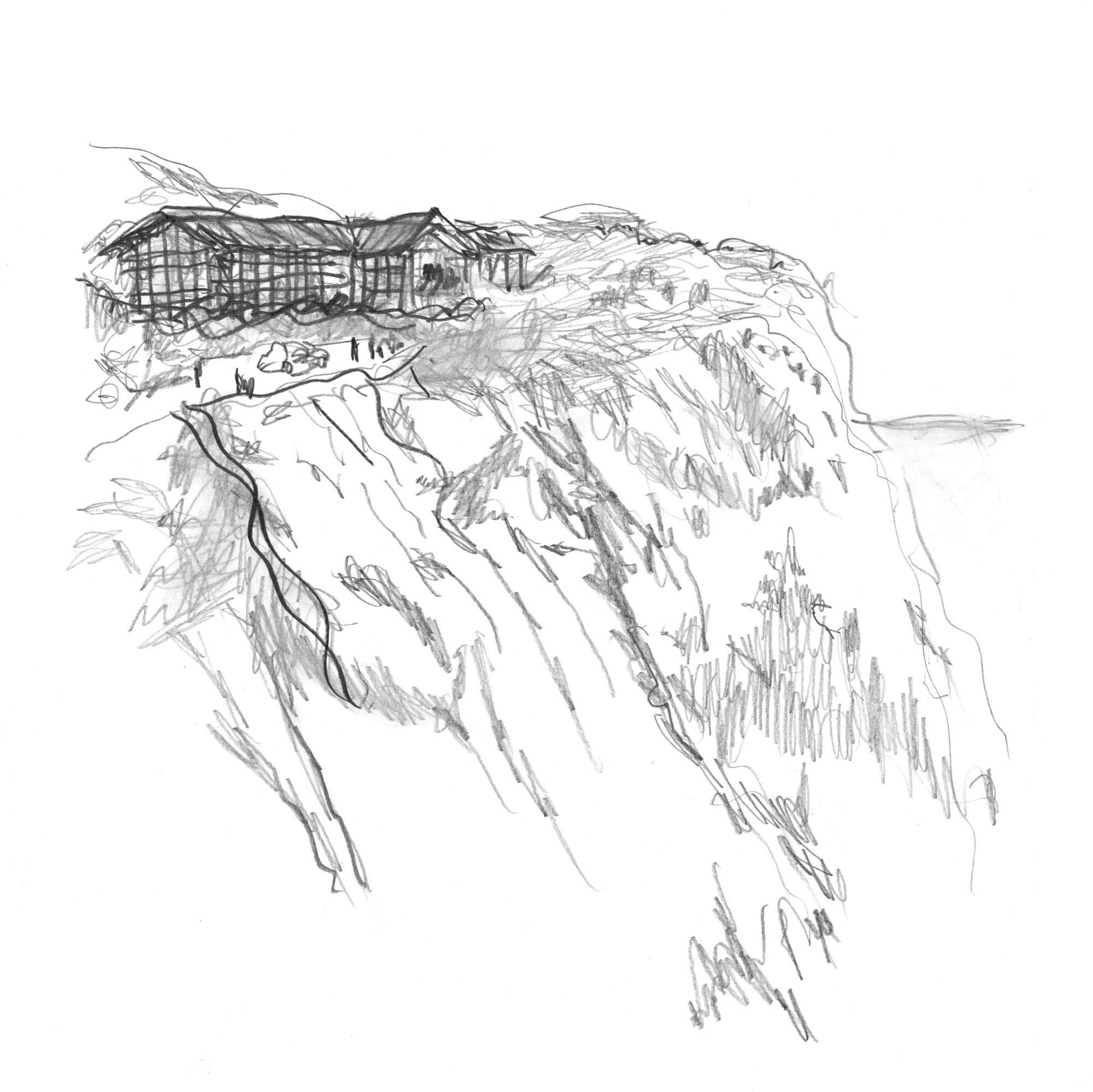 ミケーレ・デ・ルッキによる六甲山サイレンスリゾートのイメージスケッチ。©️Rokkosan silence resort