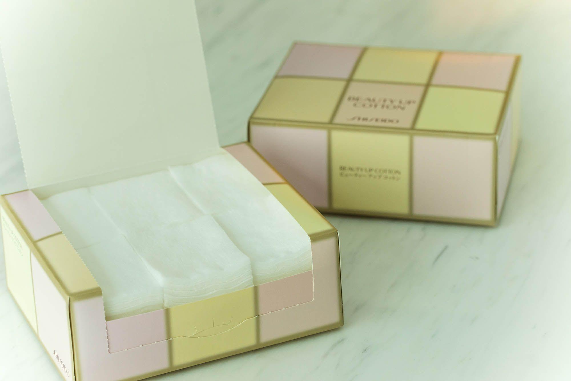 ポップなカラーが楽しいボックスに収められている「ビューティーアップコットン」(324円)税抜。