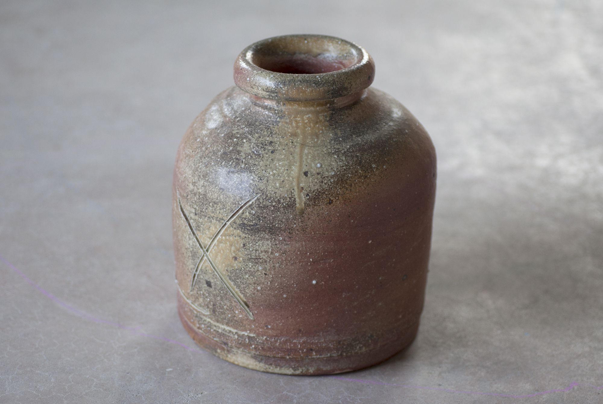 常滑 鯉江良二/自然釉壺