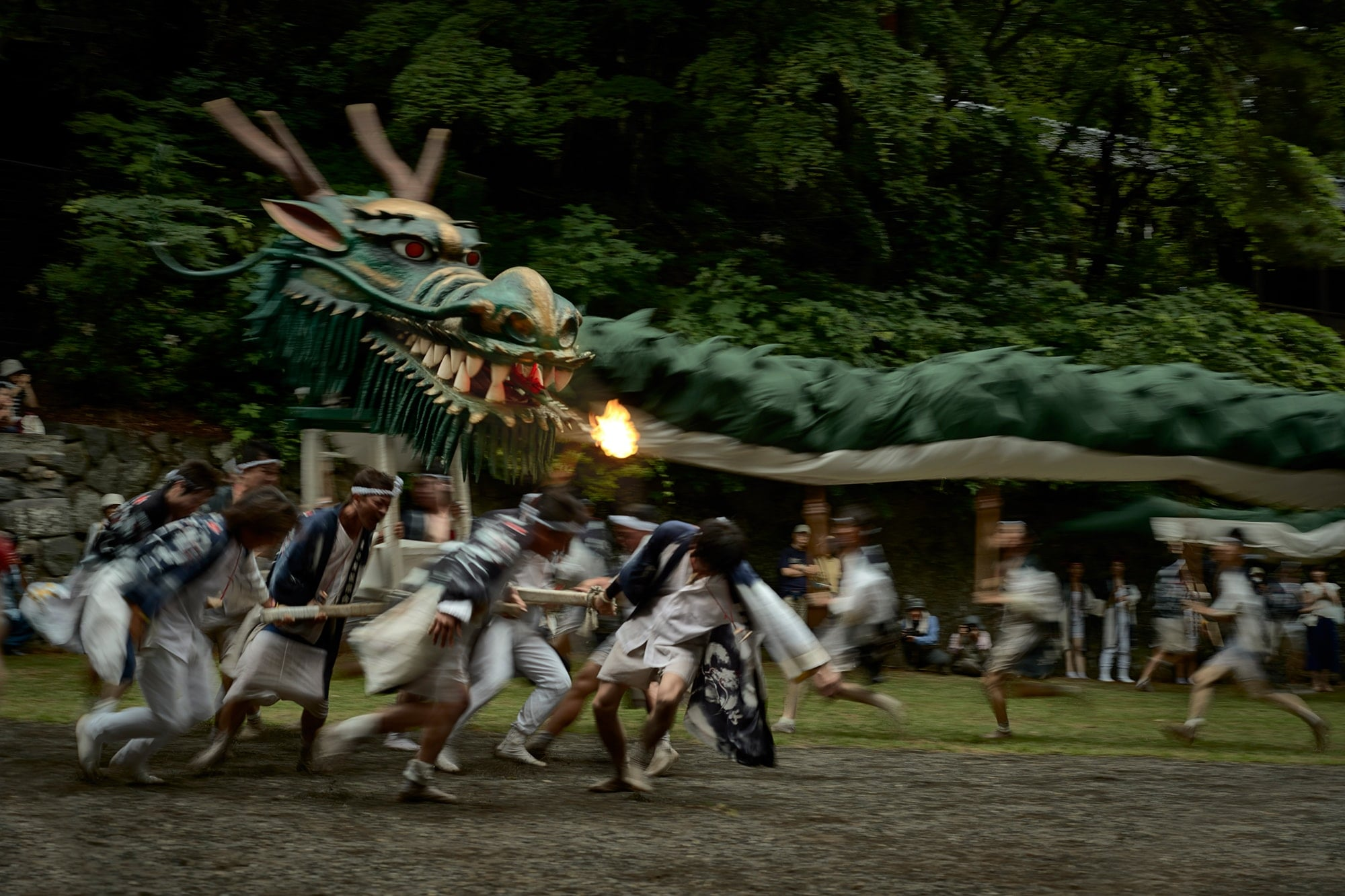 "Every year in July, the Ryujin (Dragon God) flies through the town of Miyota at the Miyota Ryujin Matsuri. Koyama's photo collection ""Miyota no Neiro"" can be purchased at the Asama International Photo Festival 2019 for 5,000 Yen. The photo collection is also included as Miyota's Hometown tax program. Photography by © Kaz Koyama 