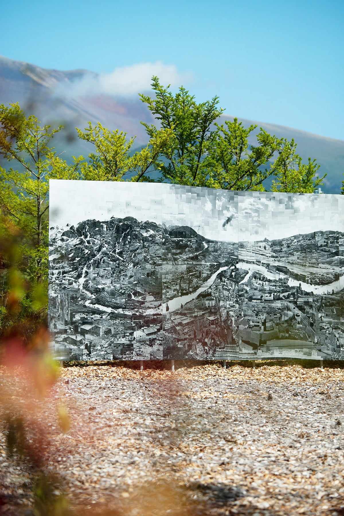 "Italy's Po River is collaged by Sohei Nishino in his work, ""IL PO""."
