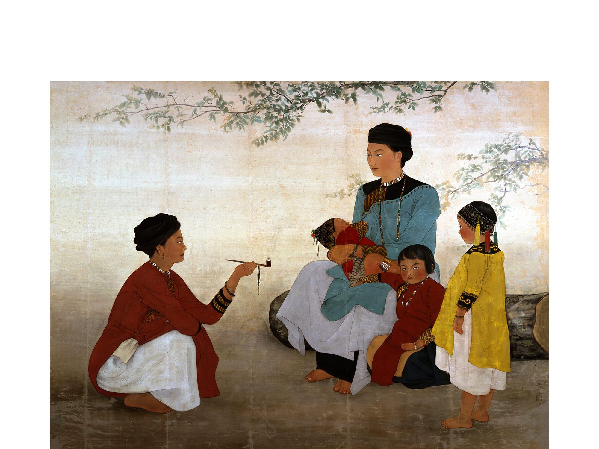 チェン・ジン(陳進)《サンティモン社の女》1936年、福岡アジア美術館蔵