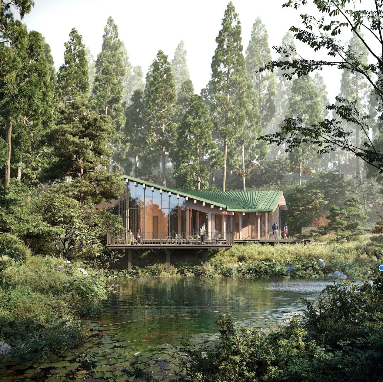 フェーズ2として2020年に完成予定の森の中のカフェ。©️Rokkosan silence resort