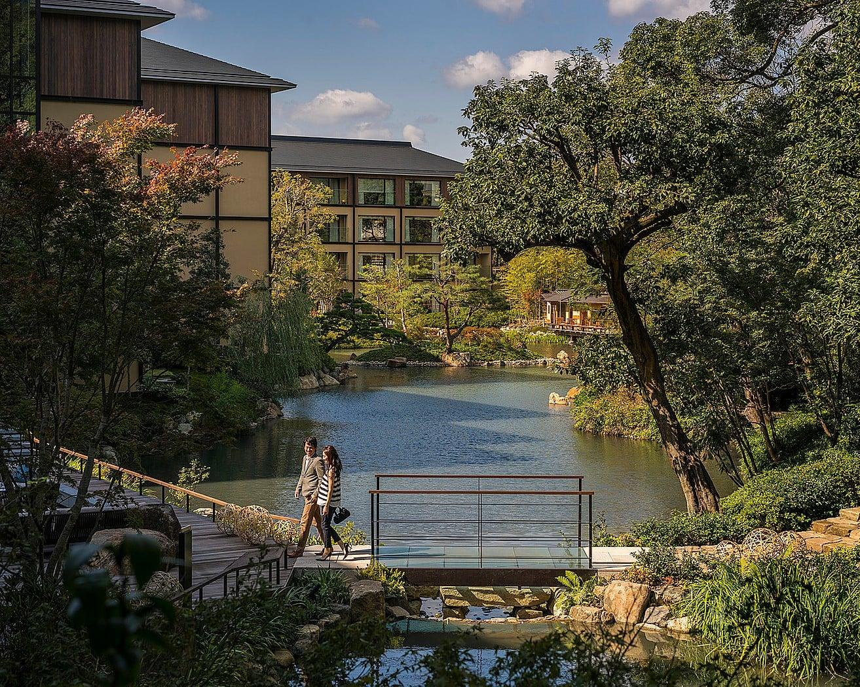 800年の歴史を持つ「積翠園」もフォーシーズンズホテル京都の見どころのひとつ。