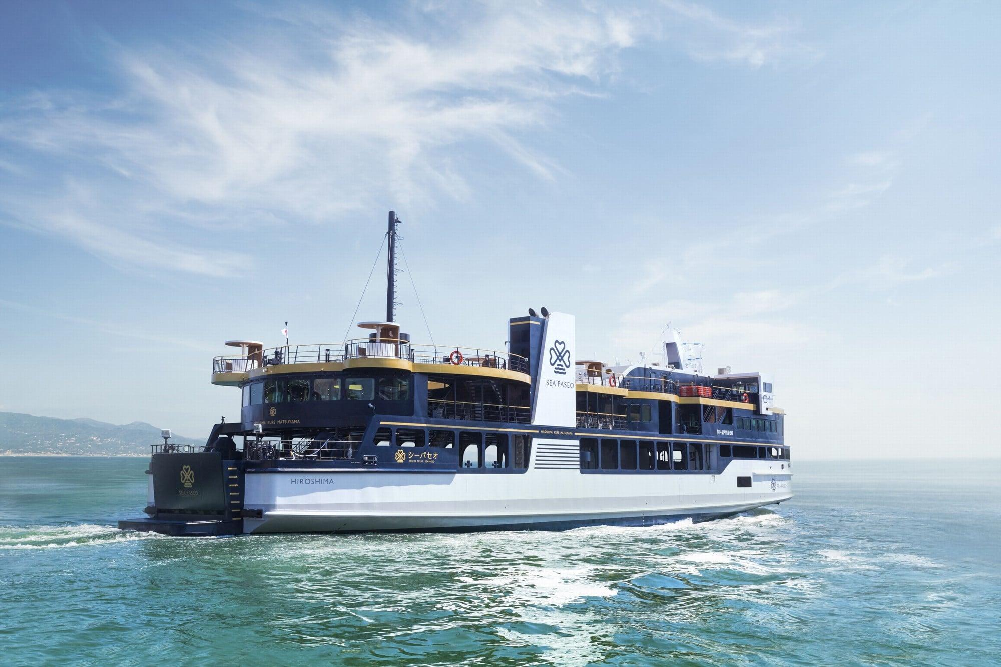 船尾席や屋外テラス席も備えた海の移動を楽しむコンセプトを形にしたカーフェリー 「クルーズフェリー シーパセオ」