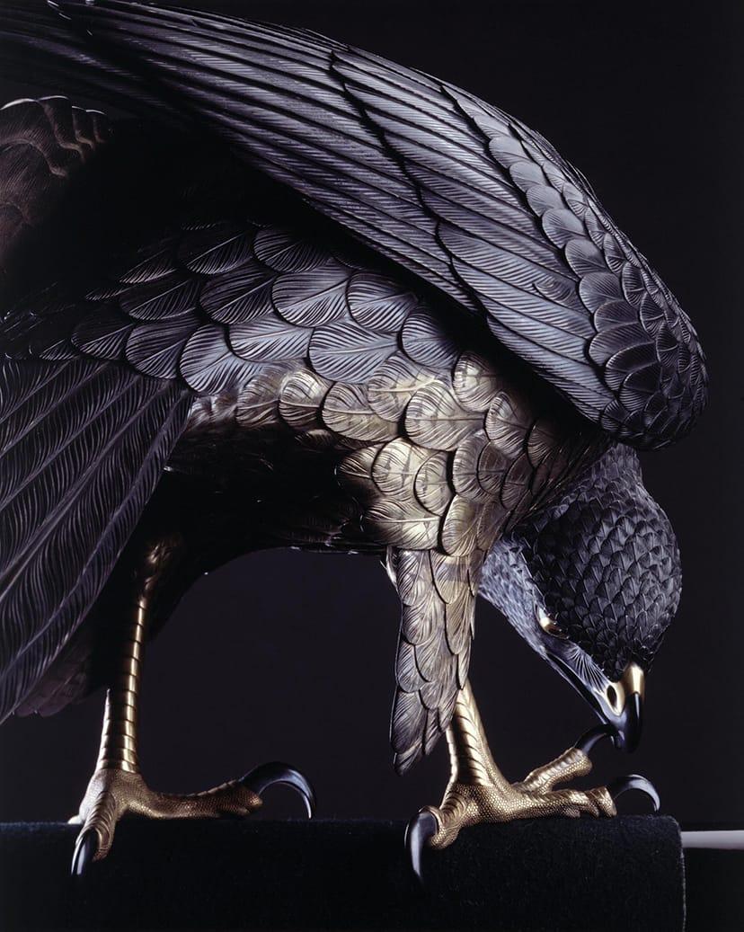 鈴木長吉《十二の鷹》1893年(部分)シカゴ万博に出展され、日本の現代美術を世界に向けて発信した代表的作品。重要文化財に指定後、初めて大公開される本作品は見どころのひとつ。