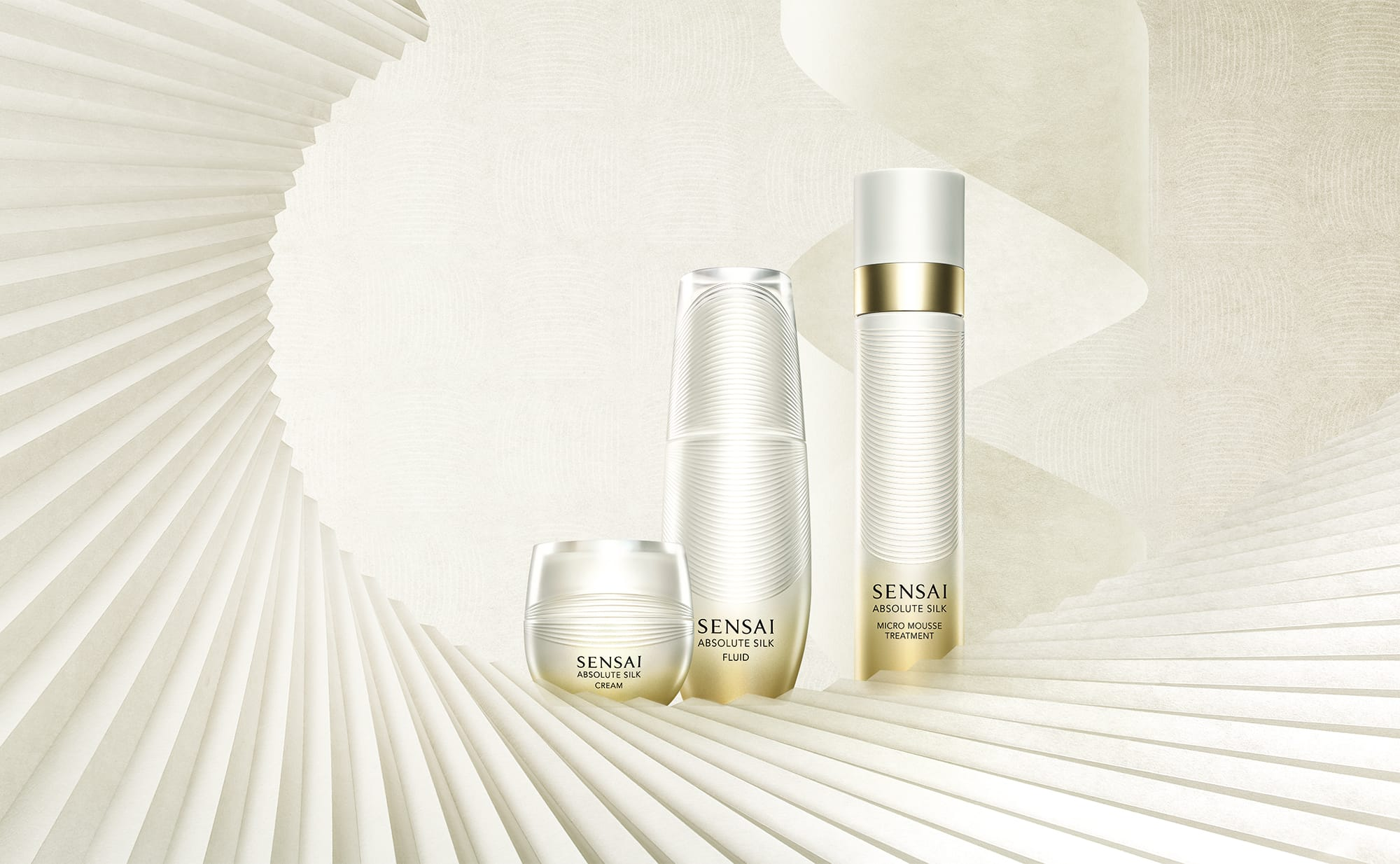The SENSAI AS Series expresses the beauty of Koishimaru Silk through daily skincare.