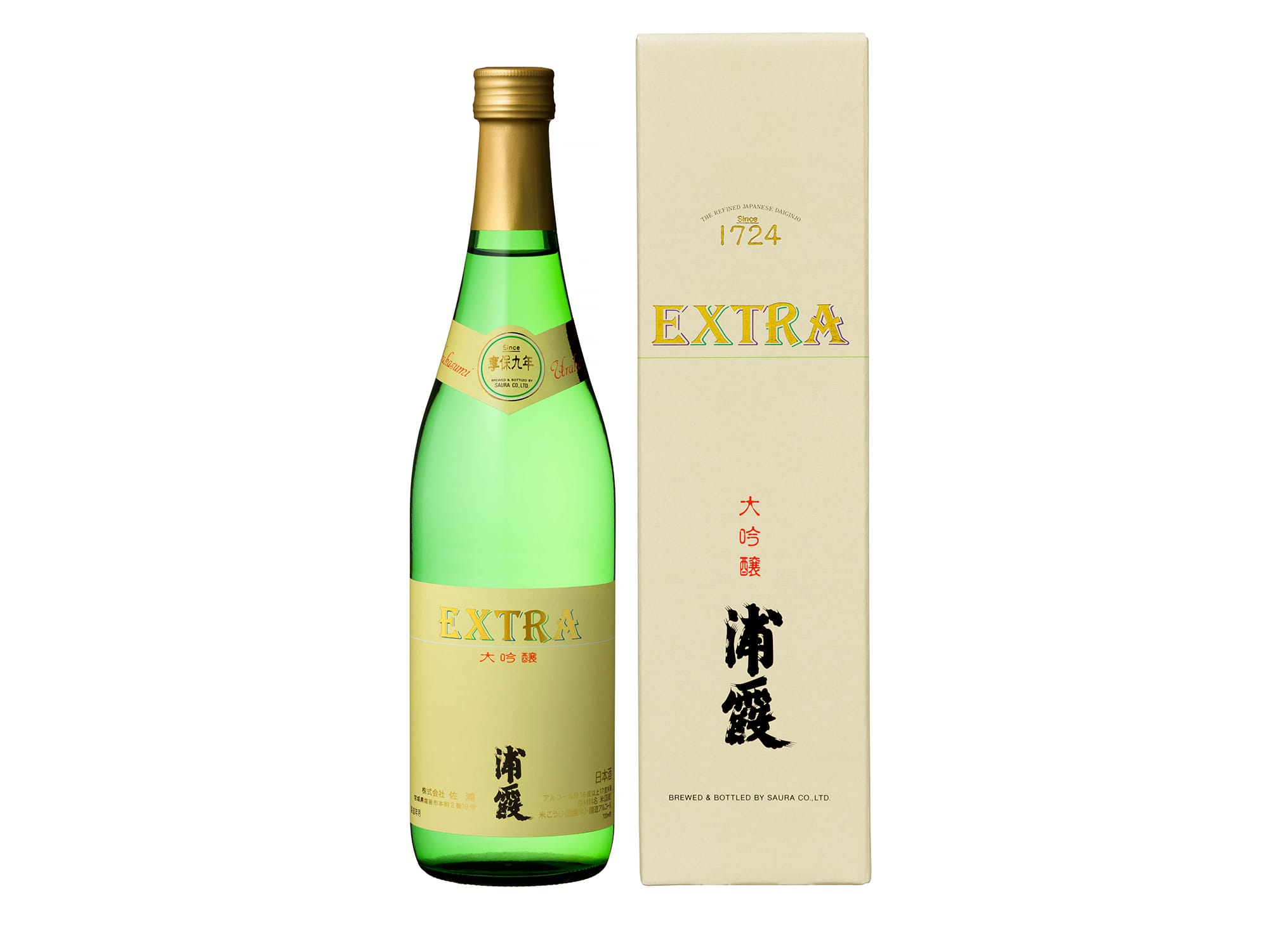 Extra Daiginjyo Urakasumi 720ml 3,800 Yen (Tax Excluded)