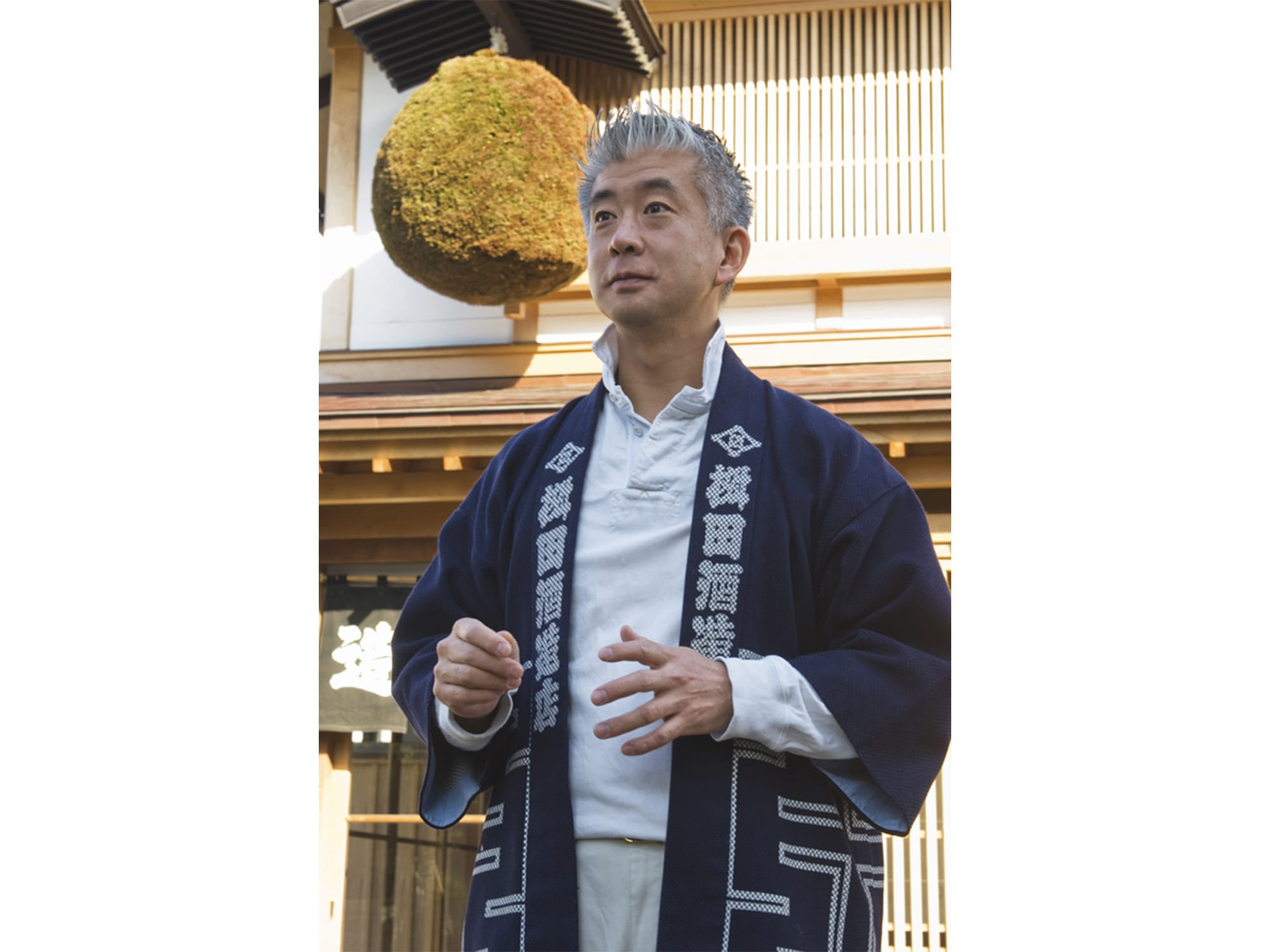 Ryuichiro Masuda, Masudashuzo's fifth generation mentions that Bunka wo matou (to be wrapped in culture) is important for both sake brewing and town planning.