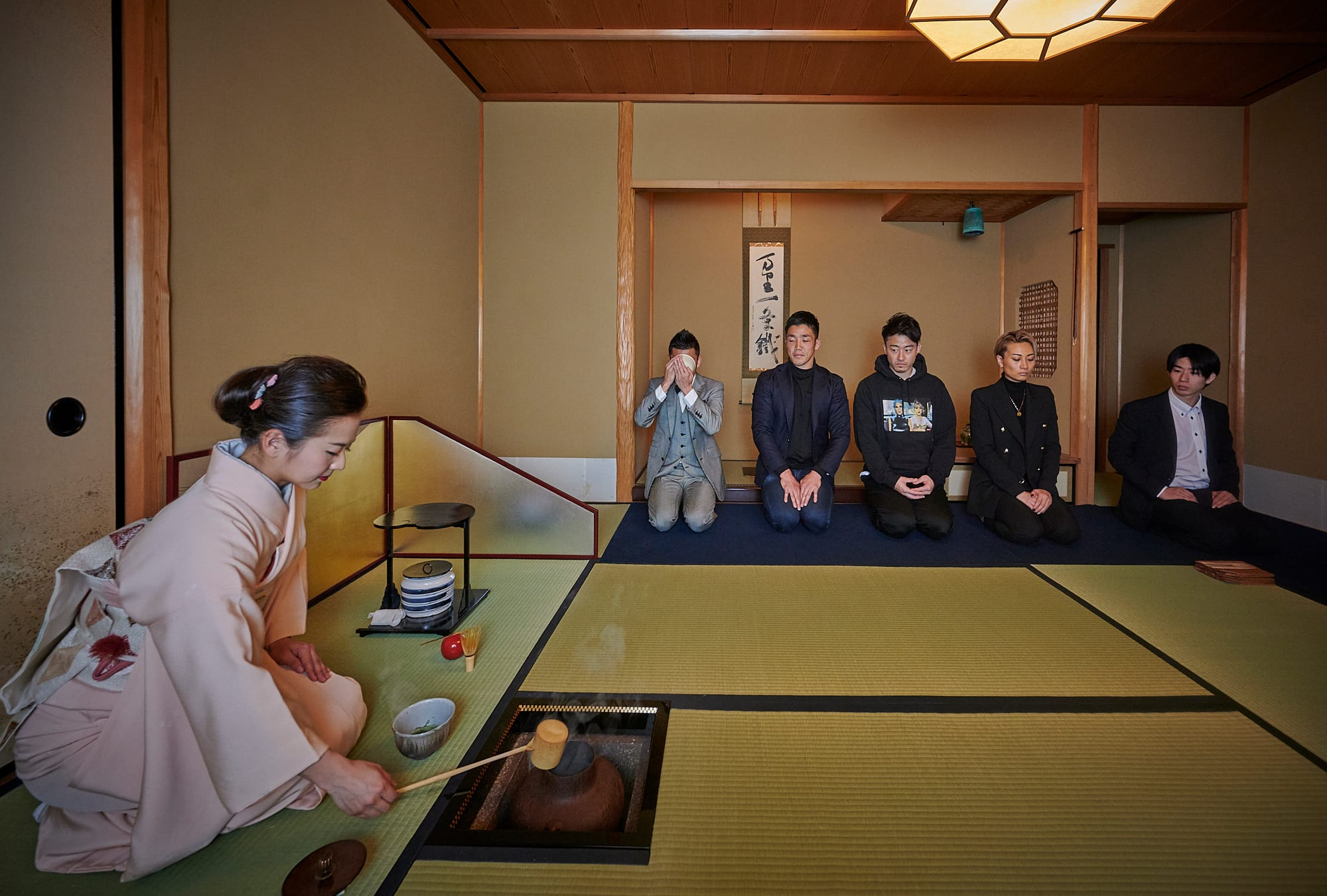 The athlete tea ceremony became a place where athletes from different sports discovered similarities in each other.