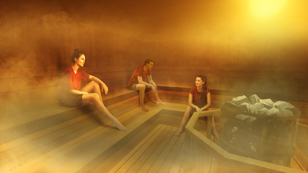 サウナエリア・冷水エリア・アート浴エリアがひとつの空間につながる「チームラボリコネクト」